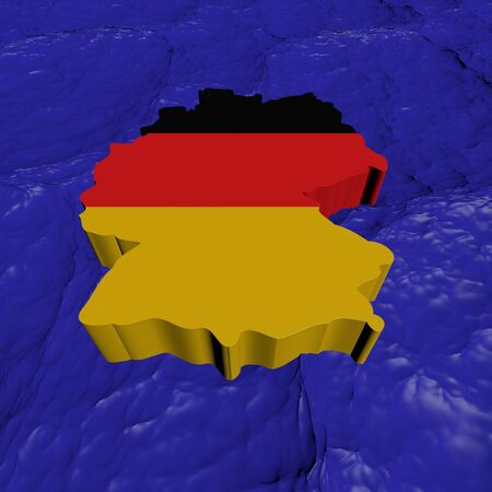 Germany map flag in abstract ocean illustration illustration