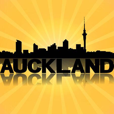 Auckland Skyline Drawing Auckland Skyline Reflected
