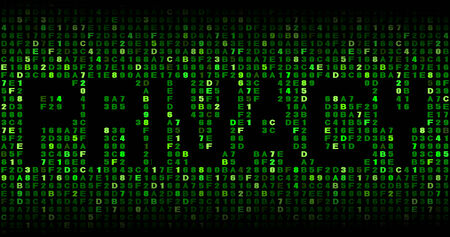 malicious software: Privacy text on hex code illustration