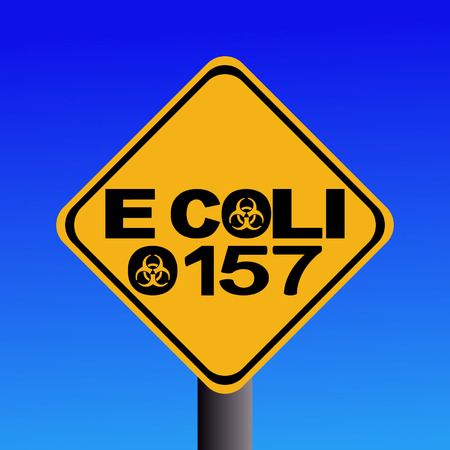 warning Pathogenic E Coli O157 sign Vector