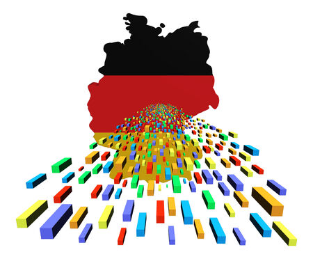 Germany map flag with containers illustration illustration