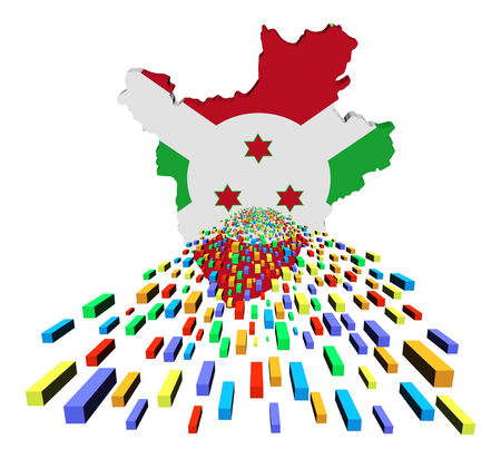 burundi: Burundi map flag with containers illustration