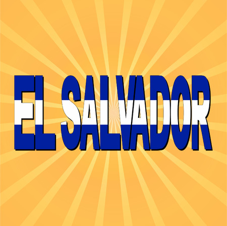 el salvador flag: El Salvador flag text with sunburst