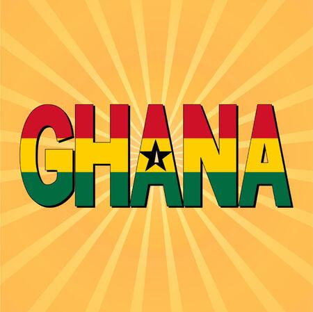 ghana: Ghana texte indicateurs avec sunburst