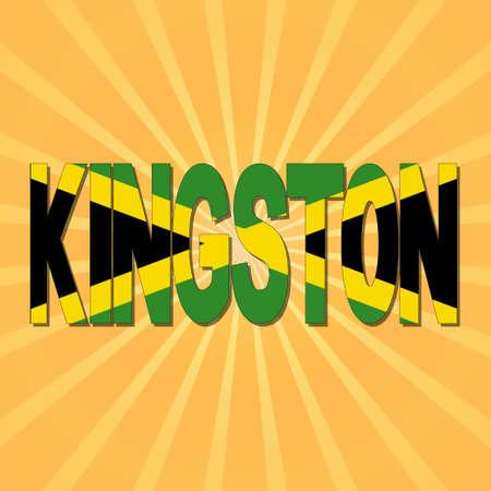 kingston: Kingston flag text with sunburst illustration