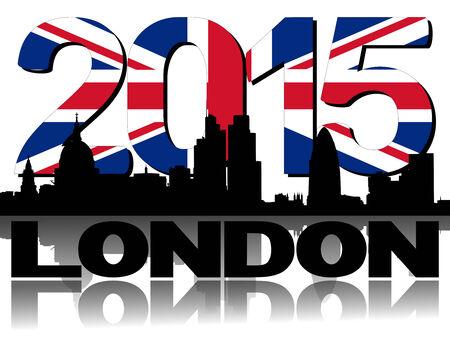 st pauls: London skyline 2015 flag text illustration