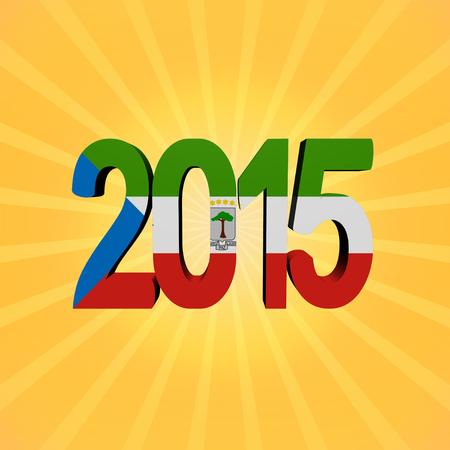 equatorial: Equatorial Guinea flag 2015 text on sunburst illustration