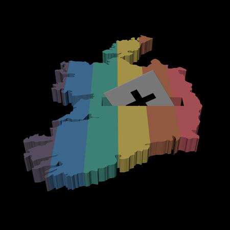 bandera gay: Irlandesa ilustración Referéndum del matrimonio homosexual