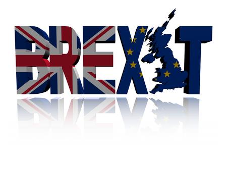 イギリスや Eu と Brexit テキスト フラグの図