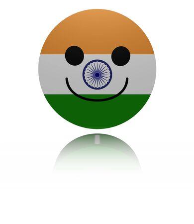 euphoric: India happy icon with reflection illustration