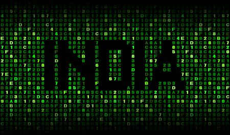 hex: India text on hex code illustration Stock Photo
