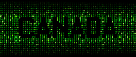 hex: Canada text on hex code illustration Stock Photo