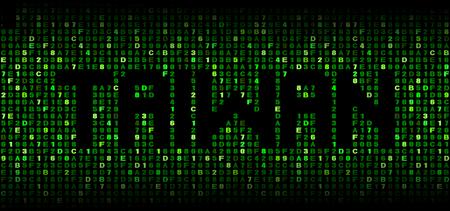taiwanese: Taiwan text on hex code illustration Stock Photo