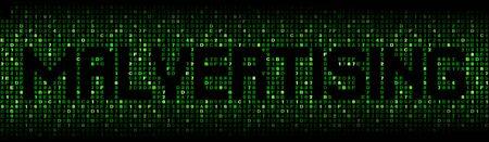 exploit: Malvertising text on hex code illustration