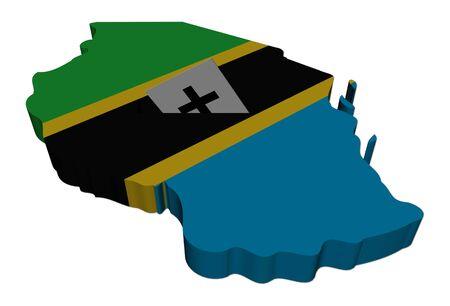 tanzania: Tanzania election map with ballot paper illustration Stock Photo