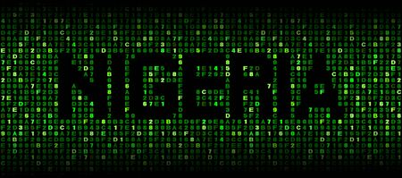 nigeria: Nigeria text on hex code illustration Stock Photo