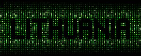 hex: Lithuania text on hex code illustration Stock Photo