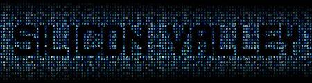 silicio: Silicon Valley texto en c�digo hexadecimal ilustraci�n
