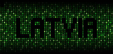 hex: Latvia text on hex code illustration