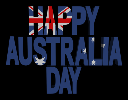 occassion: Happy Australia Day flag text illustration