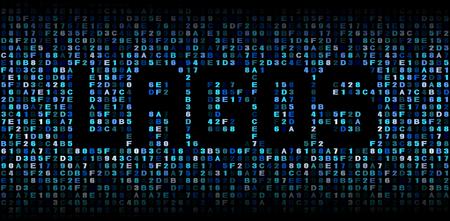 lagos: Lagos text on hex code illustration
