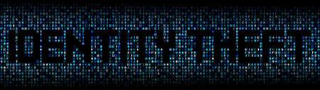 identity theft: Identity Theft text on hex code illustration