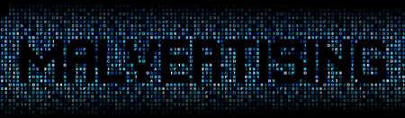 spying: Malvertising text on hex code illustration