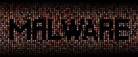 malware: Malware text on hex code illustration Stock Photo