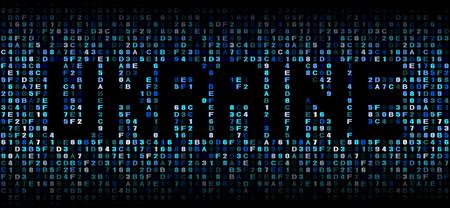 hex: Ukraine text on hex code illustration