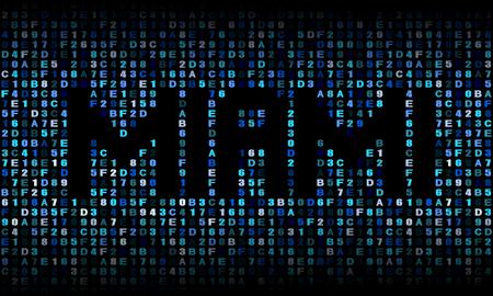 miami: Miami text on hex code illustration Stock Photo