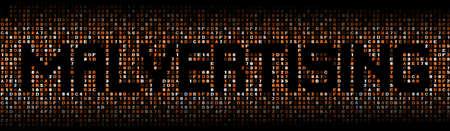 hex: Malvertising text on hex code illustration