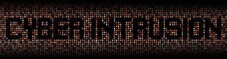exploit: Cyber Intrusion text on hex code illustration