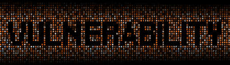 defenseless: Vulnerability text on hex code illustration