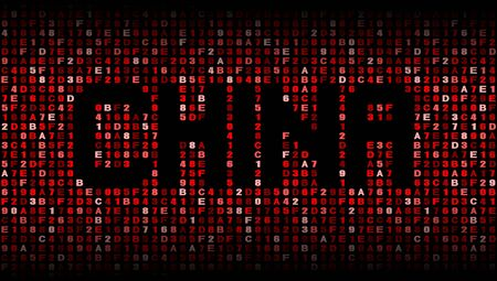 hex: China text on hex code illustration
