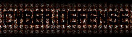 exploit: Cyber Defense text on hex code illustration