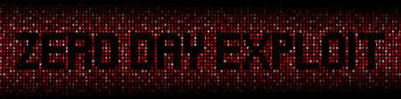 exploit: Zero Day Exploit text on hex code illustration
