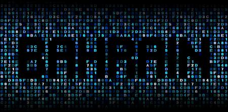 hex: Bahrain text on hex code illustration Stock Photo
