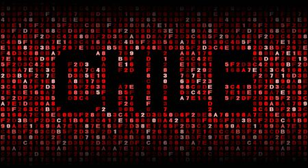 hex: Chile text on hex code illustration