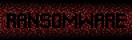 hex: Ransomware text on hex code illustration
