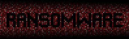 exploit: Ransomware text on hex code illustration