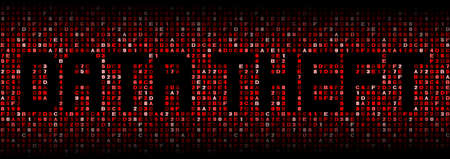 data theft: Data Theft text on hex code illustration