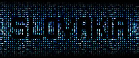 slovakian: Slovakia text on hex code illustration