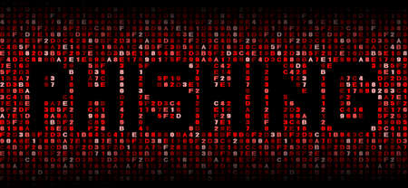 phishing: Phishing text on hex code illustration Stock Photo