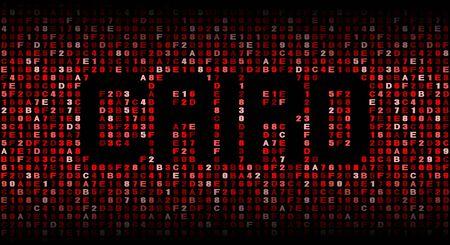 cairo: Cairo text on hex code illustration