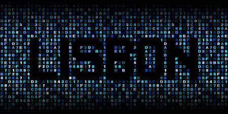 hex: Lisbon text on hex code illustration Stock Photo