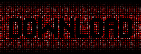 Download text on hex code illustration Reklamní fotografie