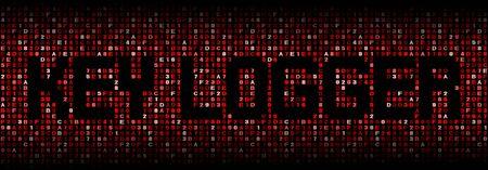 exploit: Key logger text on hex code illustration