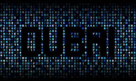 hex: Dubai text on hex code illustration