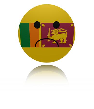 reflection: Sri Lanka sad icon with reflection illustration
