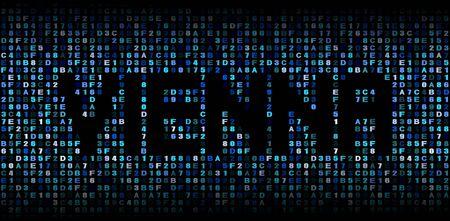 hex: Vienna text on hex code illustration